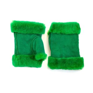 Women's lambskin fingerless in fluo green color