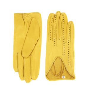 Ladies' unlined yellow spring gloves