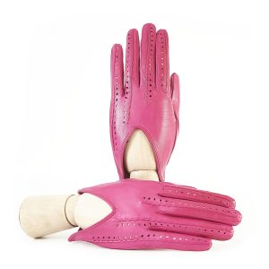 Ladies' unlined pink spring gloves