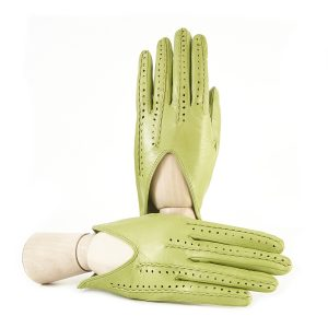 Ladies' unlined green spring gloves